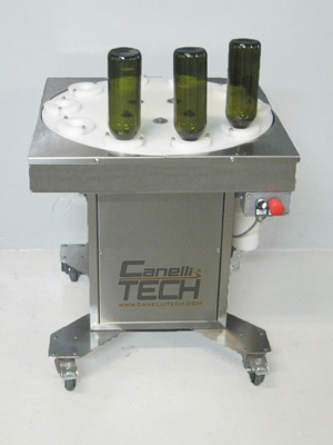semi-automatic bottle rinser with 10 nozzles